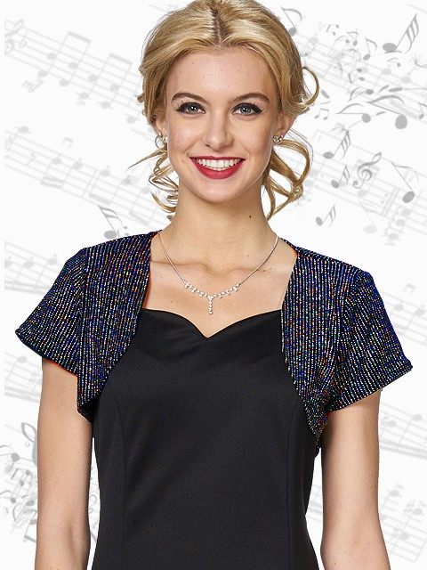 Shrug in Sparkle Knit