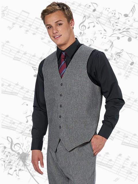 Grey Modern fit 5 button vest